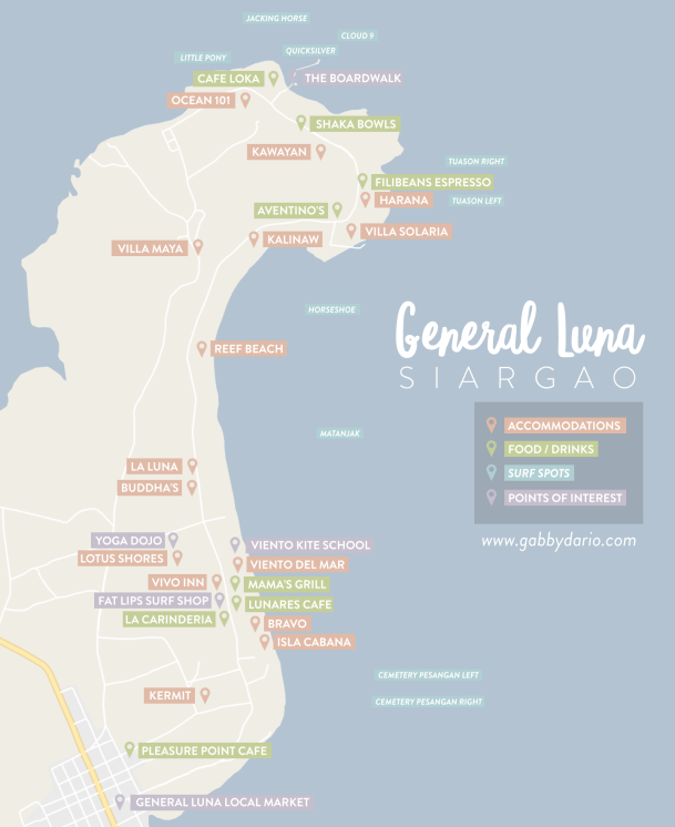 Siargao General Luna Map by gabbydario